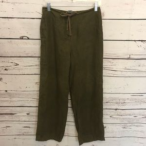 Brooks brothers women's 2 olive green linen pants